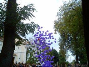 Balony z helem wypuszczane z pudla
