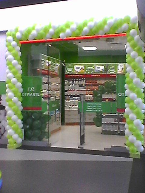 Bramy z balonów biało zielone