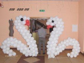 Dekoracje z balonow labedzie