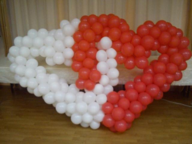 Dekoracje z balonów serca