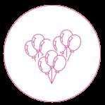 Balony ledowe z helem • balony na wesele • na zamówienie • balony ślubne • w kształcie serca girlanda • Poznań • Łódź