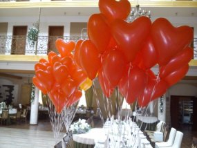 balony w serca na wesele