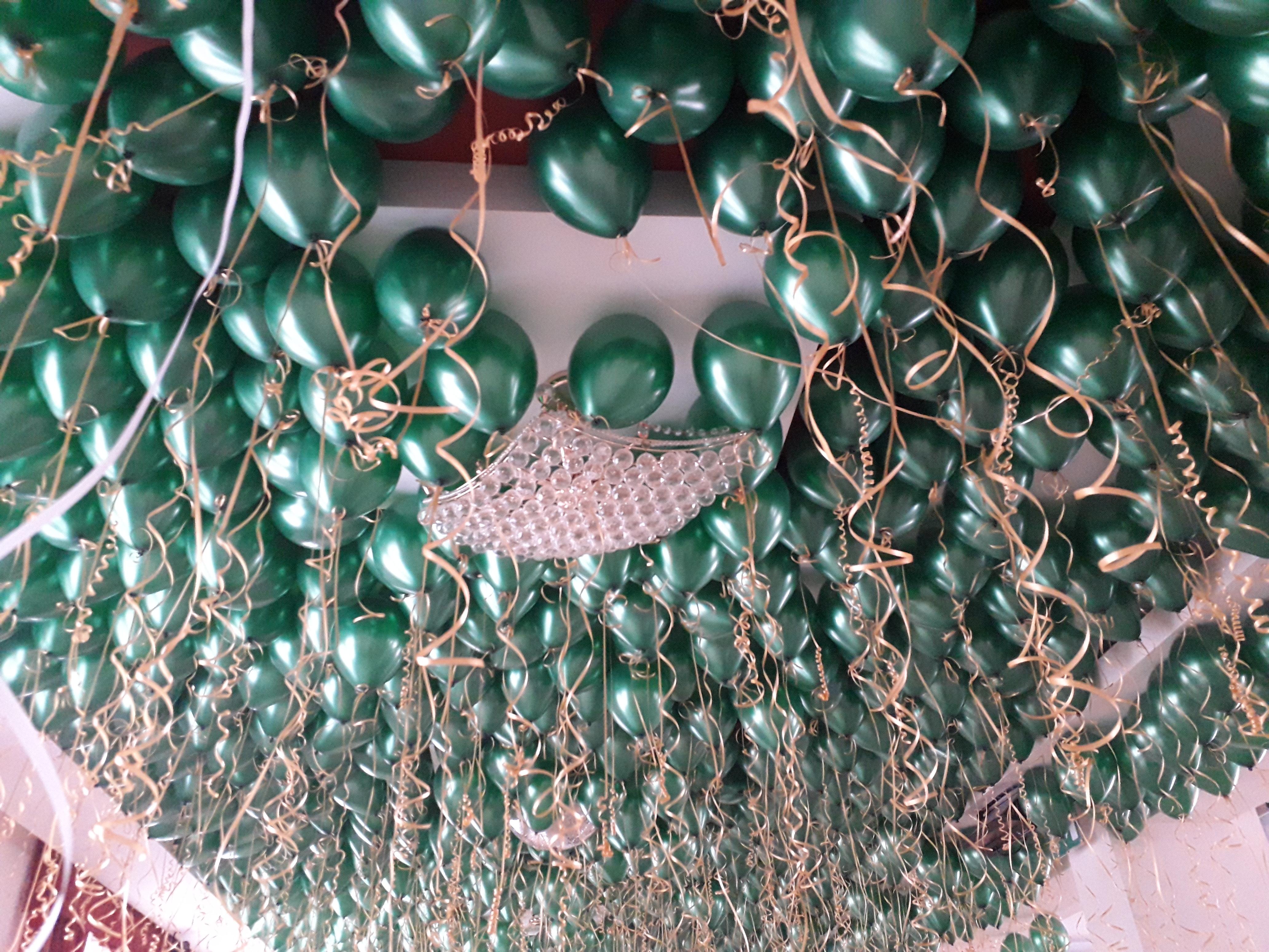 Balony z helem zielone
