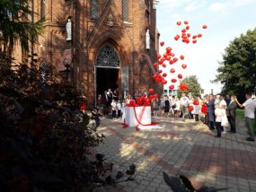 Pudło z balonami wesele 2