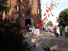 Pudło z balonami wesele 3