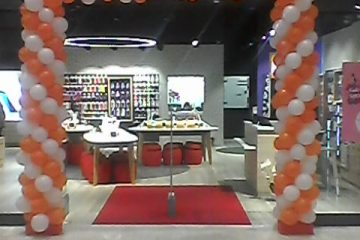 Brama balonowa orange
